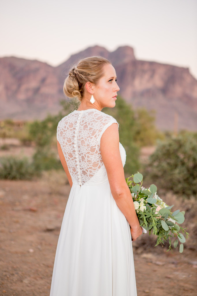 Bride in desert The Paseo Phoenix Wedding Photographer
