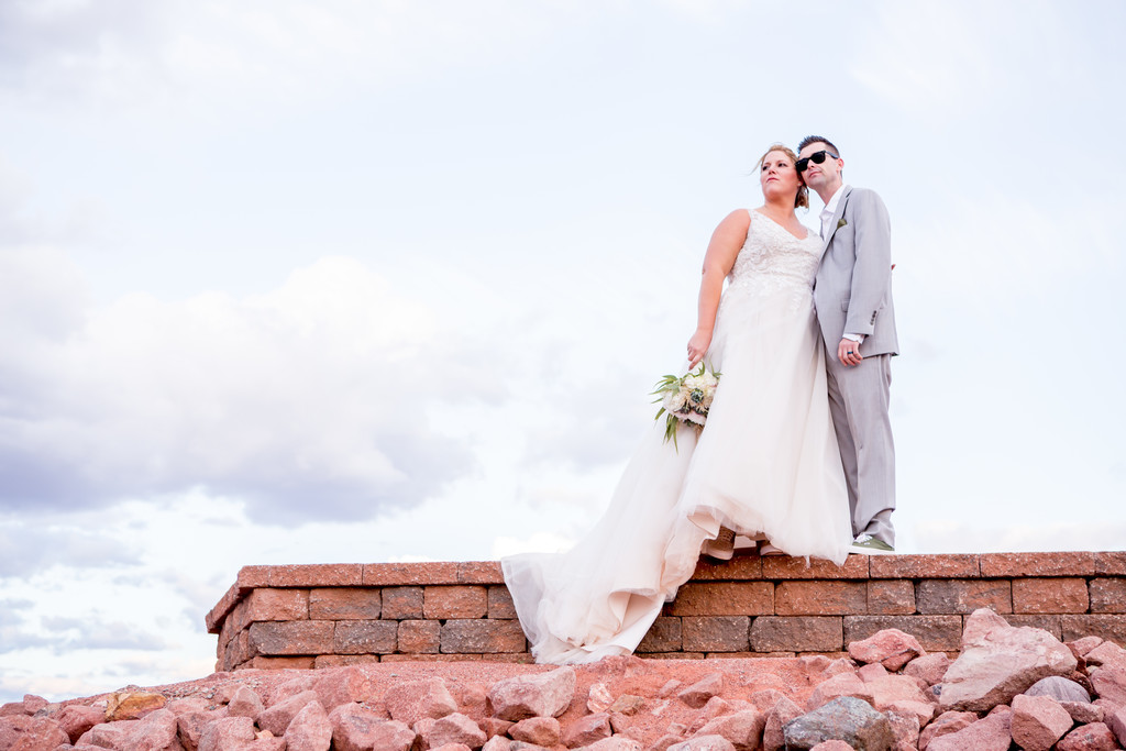 Bride and Groom sunglasses Phoenix Wedding Photographer