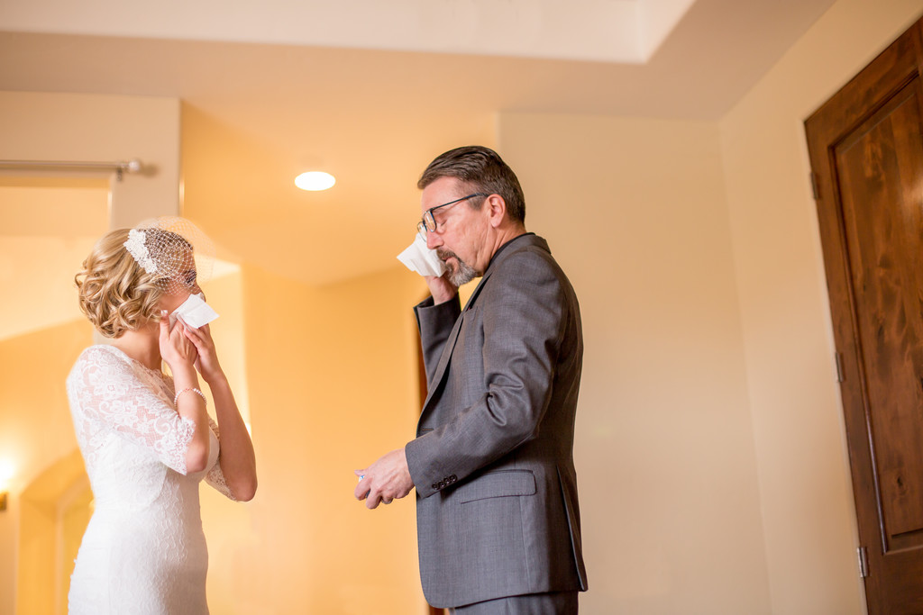 Father Daughter Tears The Pointe Wedding Photographer