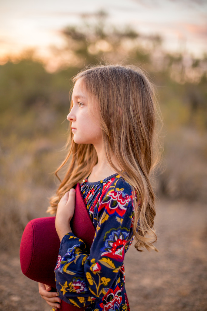 Girl's Profile Sonoran Desert Natural Photographer