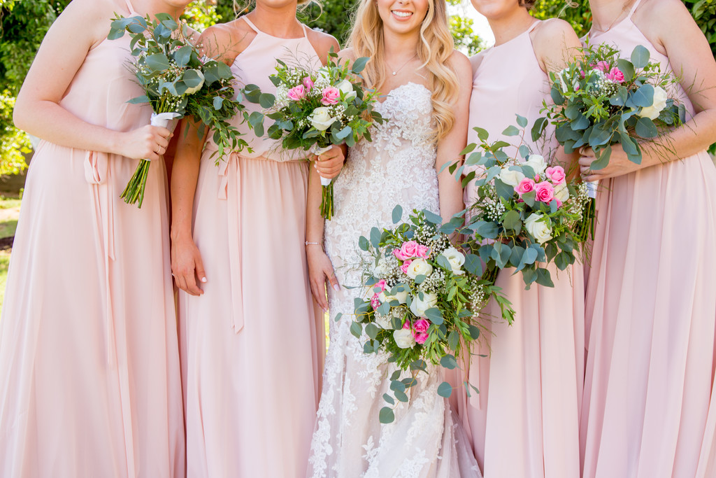 Bridal Bouquets Blush Phoenix Wedding Photographer