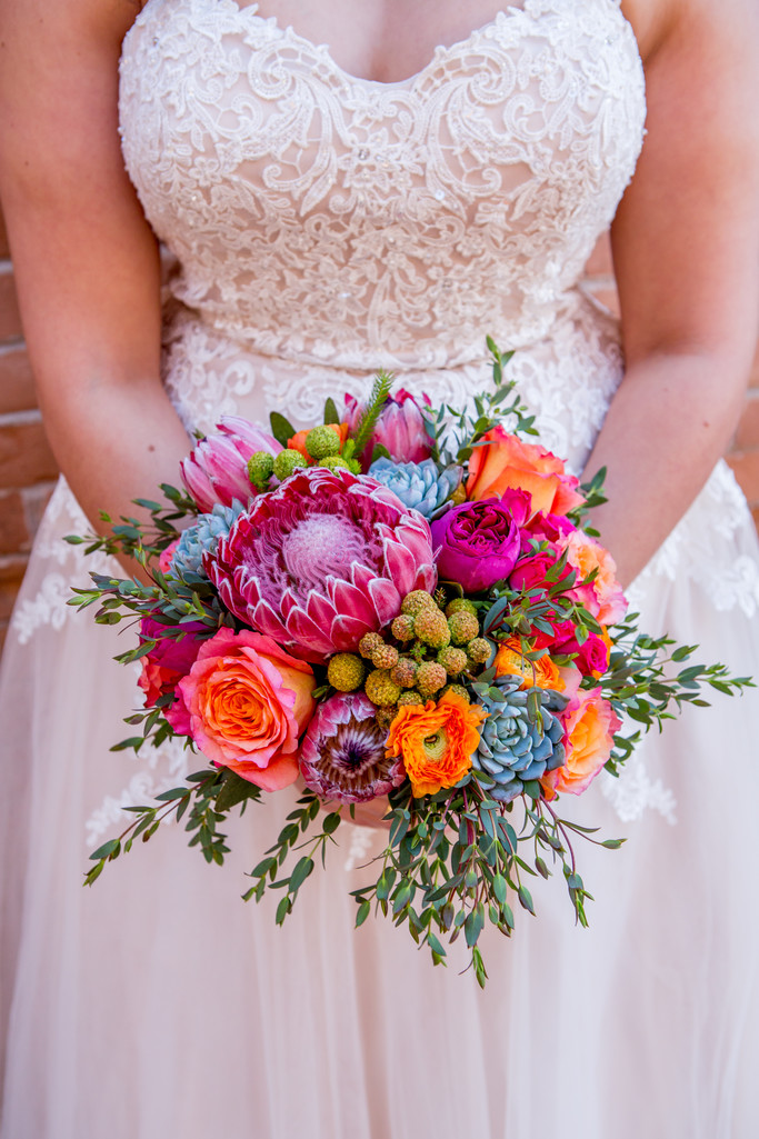 Bright and bold bouquet Phoenix Wedding Photographer