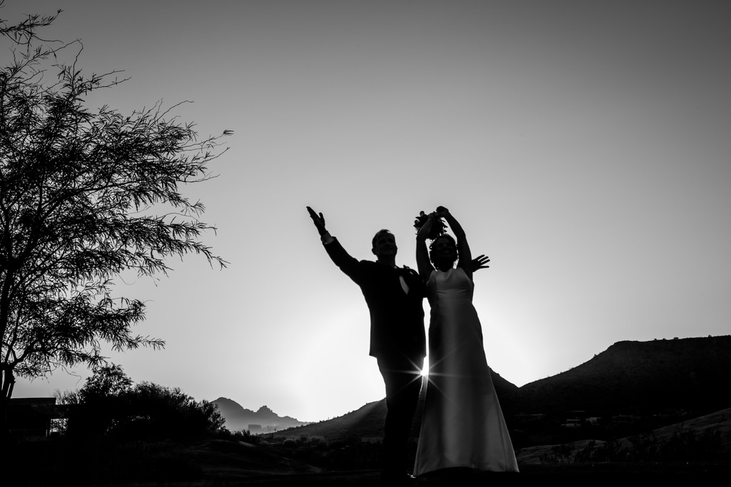 Celebrating Sunset Phoenix Wedding Photographer