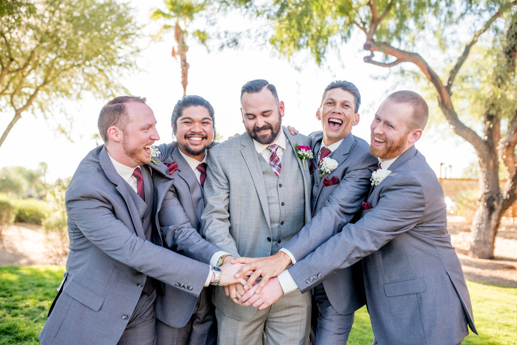 Groomsmen goofing around Phoenix Wedding Photographer