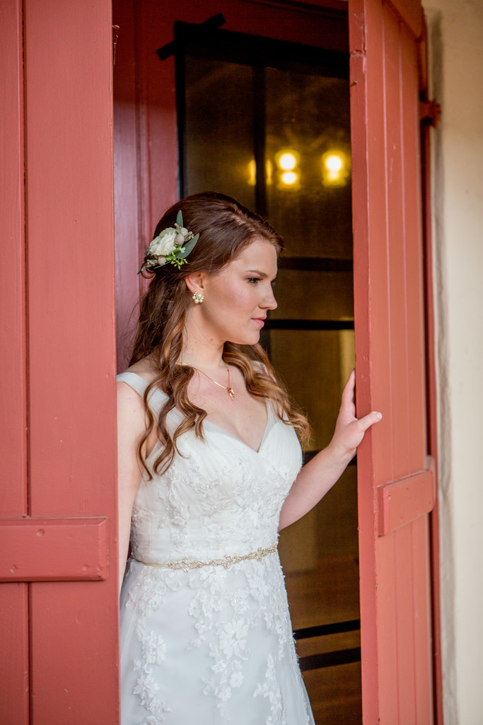 Bride in Doorway Scottsdale Destination Photographer