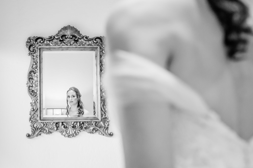 Bella Rose Bride in Mirror Wedding Phoenix Photographer
