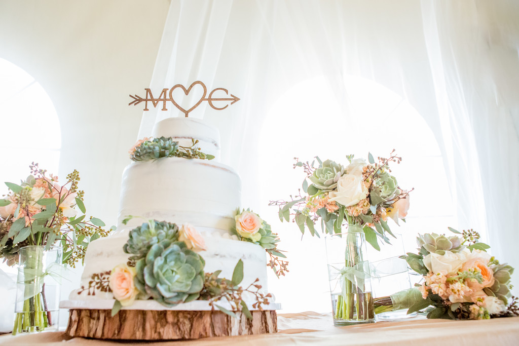 Cake Reception Rustic Phoenix Wedding Photographer