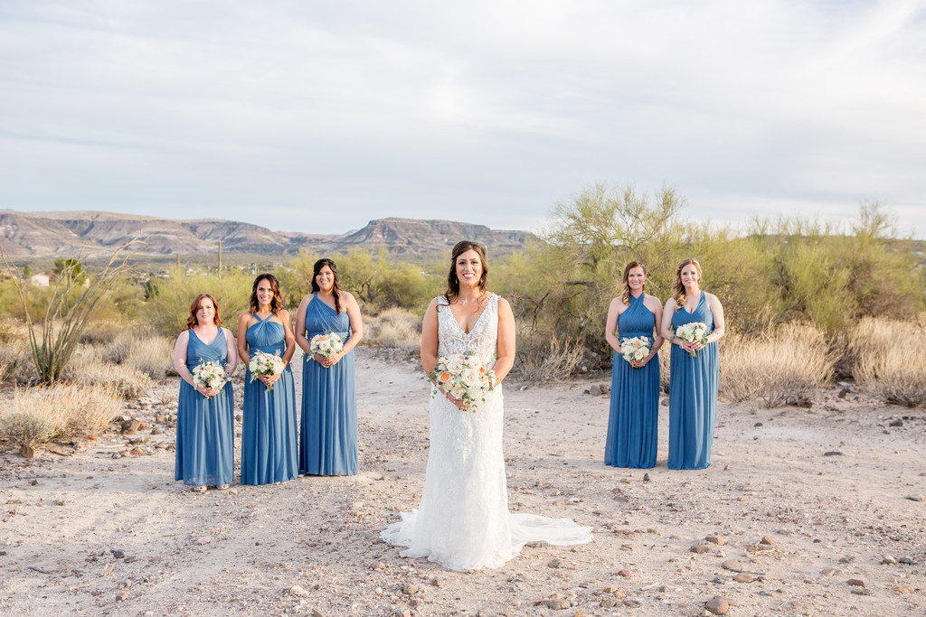 Bridesmaids in Desert Wedding Phoenix Photographer