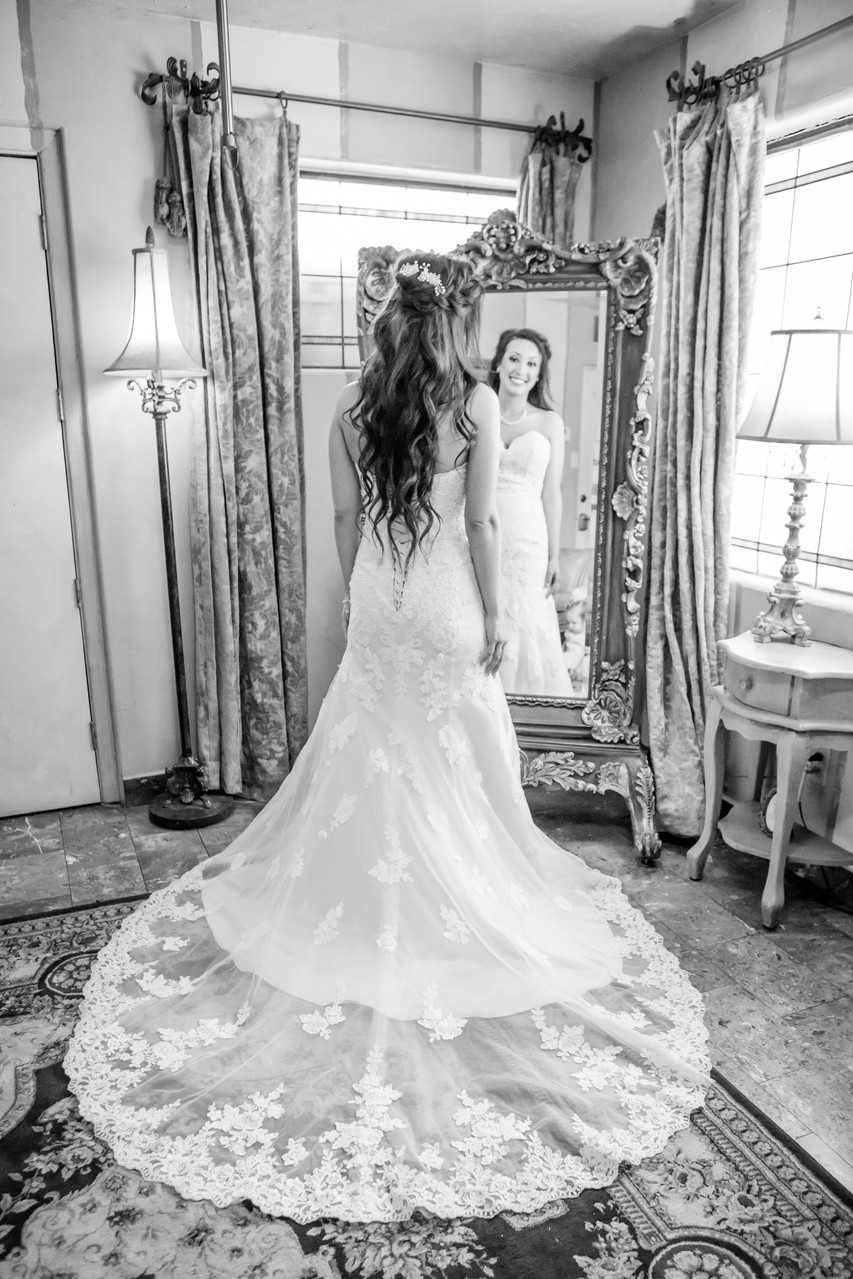 Bride Mirror Wright House Wedding Phoenix Photographer