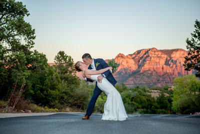 Sunset Kiss Sedona Phoenix Wedding Photographer