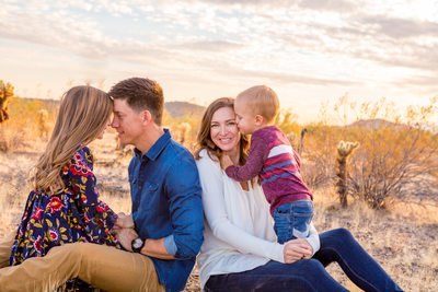 Desert Family Portrait Session Peoria Photographer