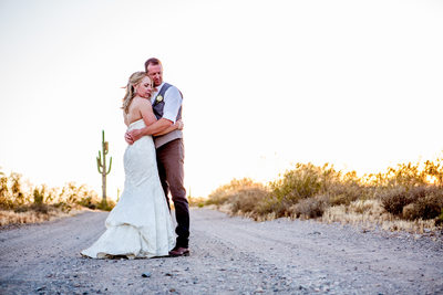 Desert dirt road Phoenix Wedding Photographer