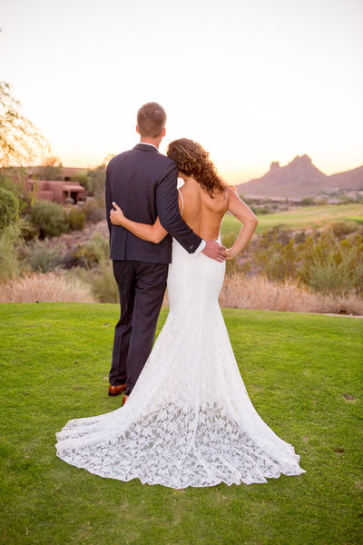 sunset Eagle Mountain Phoenix Wedding Photographer