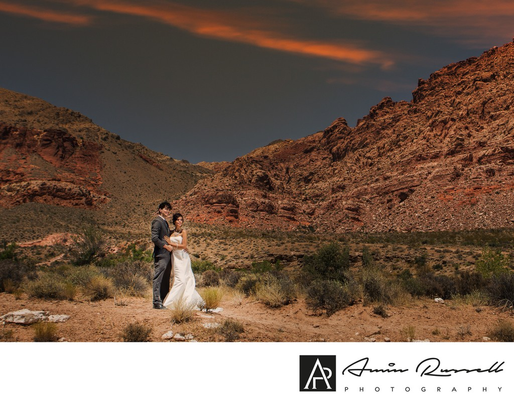 Scenic Red Rock Bridal Couple