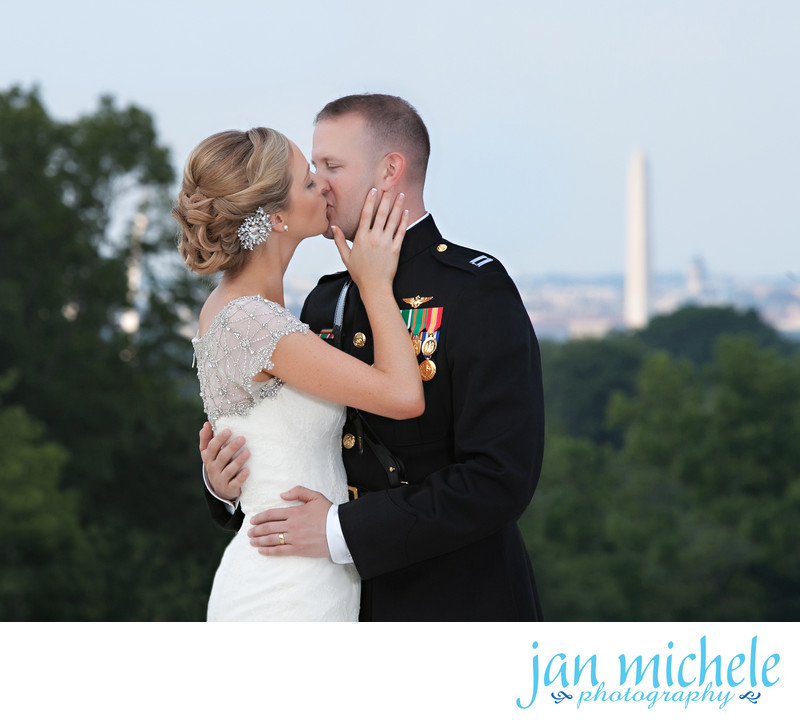 Wedding Kiss overlooking the Washington Monument