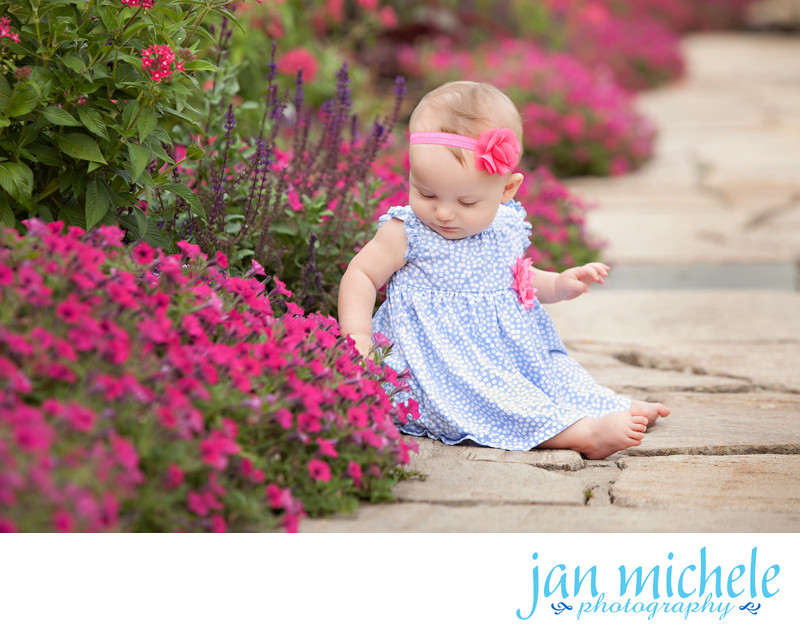 Washington DC Baby Photographer - Garden Flowers