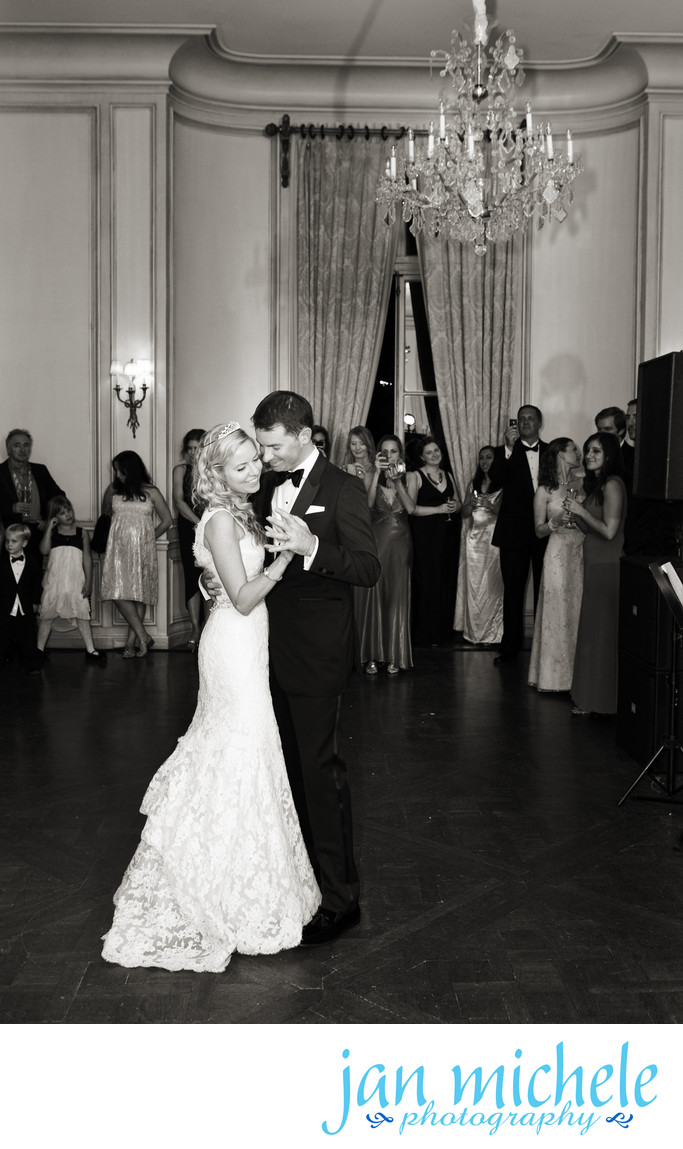 First Dance in a classic ballroom in a historic mansion in Washington DC