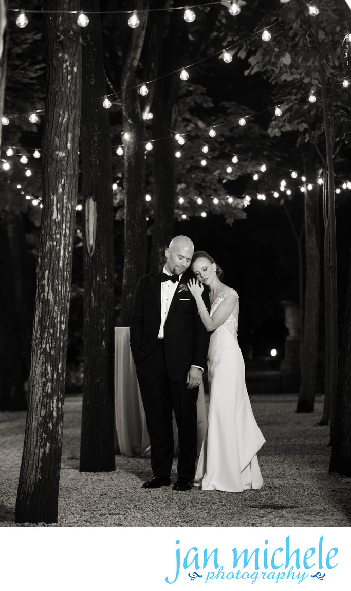 Meridian House Wedding, a stolen moment under the garden lights