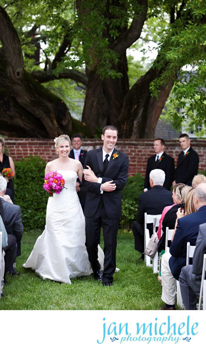 Just Married under the Osage Orange Tree at River Farm in Alexandria VA