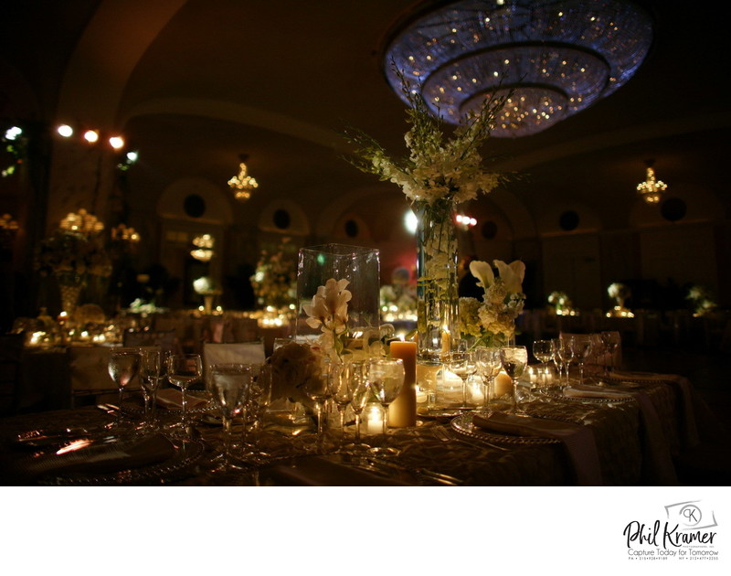 Ritz Carlton Wedding Décor Photography by Phil Kramer