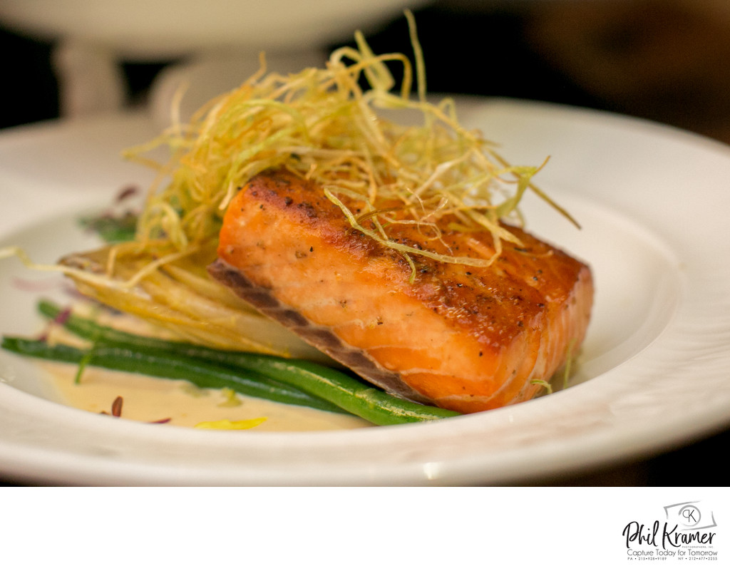 Salmon and String Beans | Food Photography by Phil Kramer