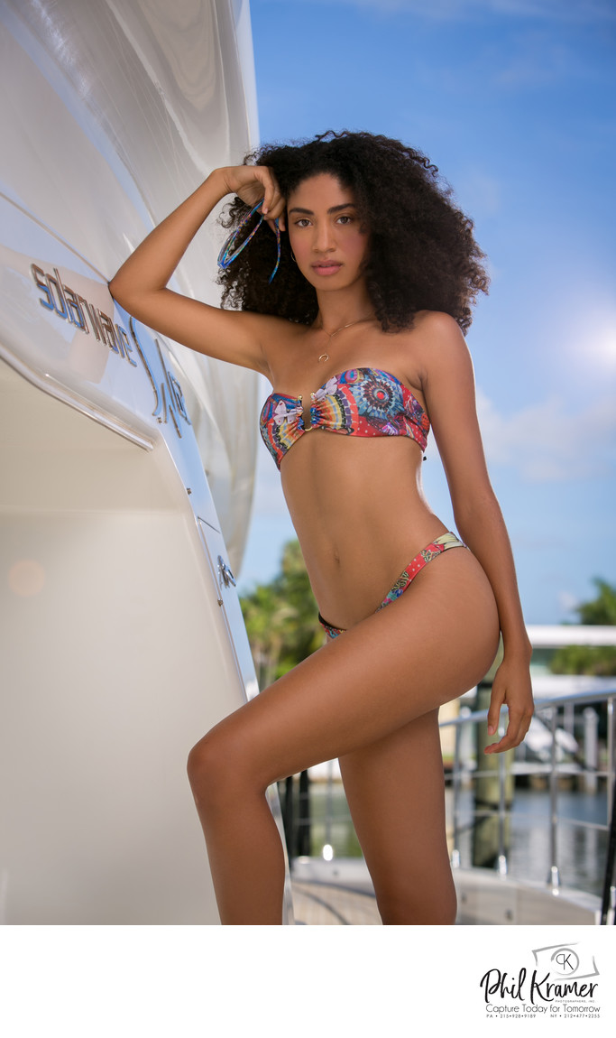 Think Magazine Miami Charter Boat Bikini Fashion