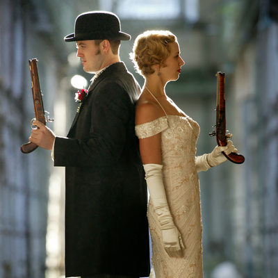 Bride and Groom Russian Roulette at The Eastern State Penitentiary