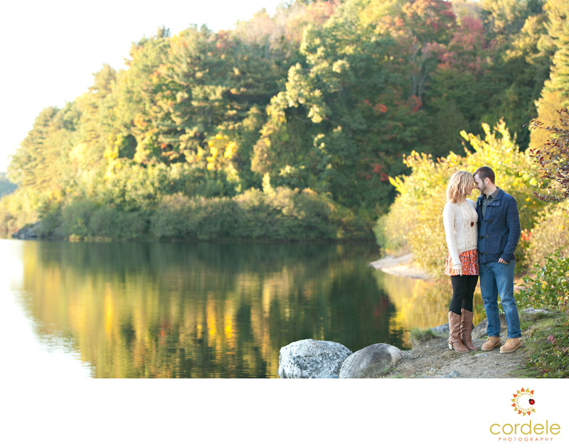 Fall Engagement Session Photos Boylston MA