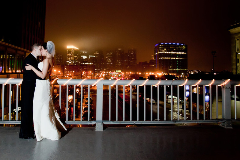 Boston skyline wedding photos