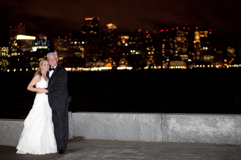 Hyatt Harborside Boston Skyline wedding photos