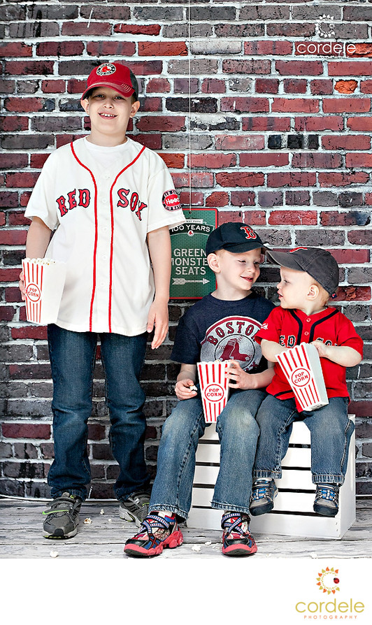 Red Sox Theme Children Photos