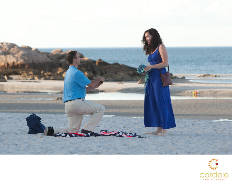 Surprise Proposal Shoot Wingaersheek Beach