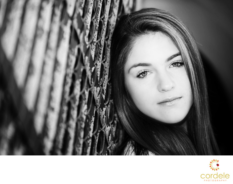 Black and White Senior Portraits Reading MA