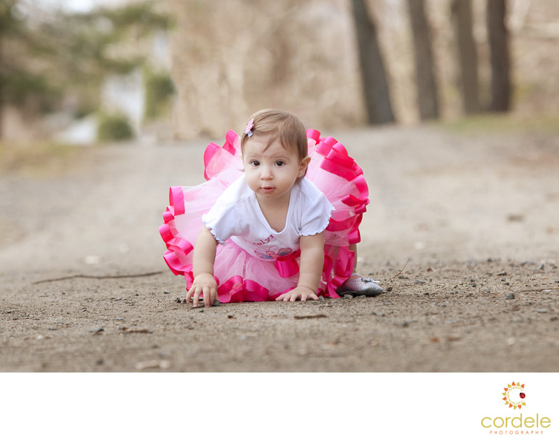 Outdoor First Birthday Photoshoot Peabody Massachusetts