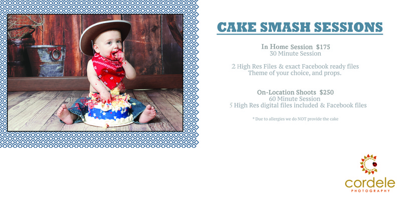 Cake Smash Photo Session Pricing Reading MA