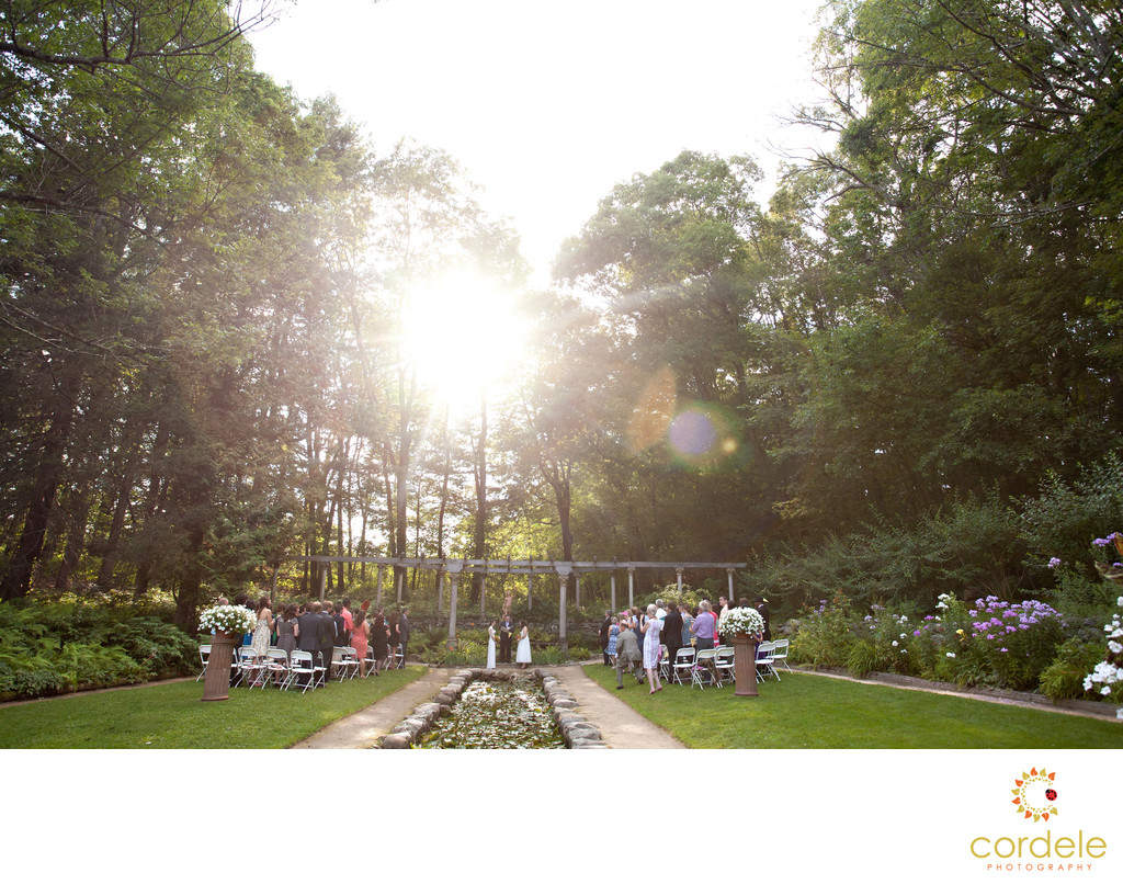 Outdoor Wedding Ceremony Photos massachusetts