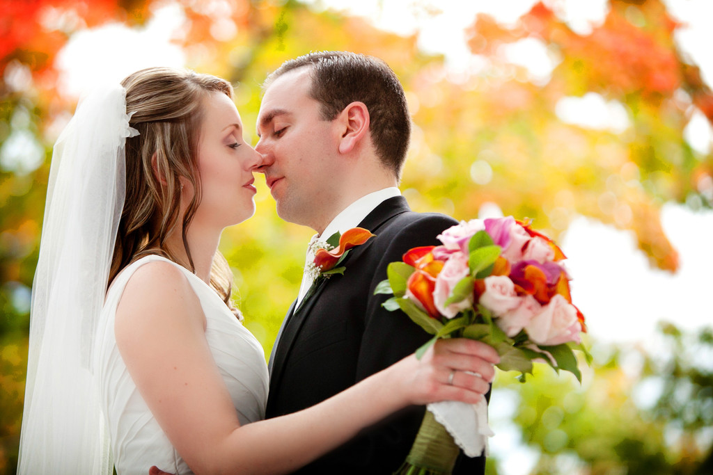 Fall wedding photos new england