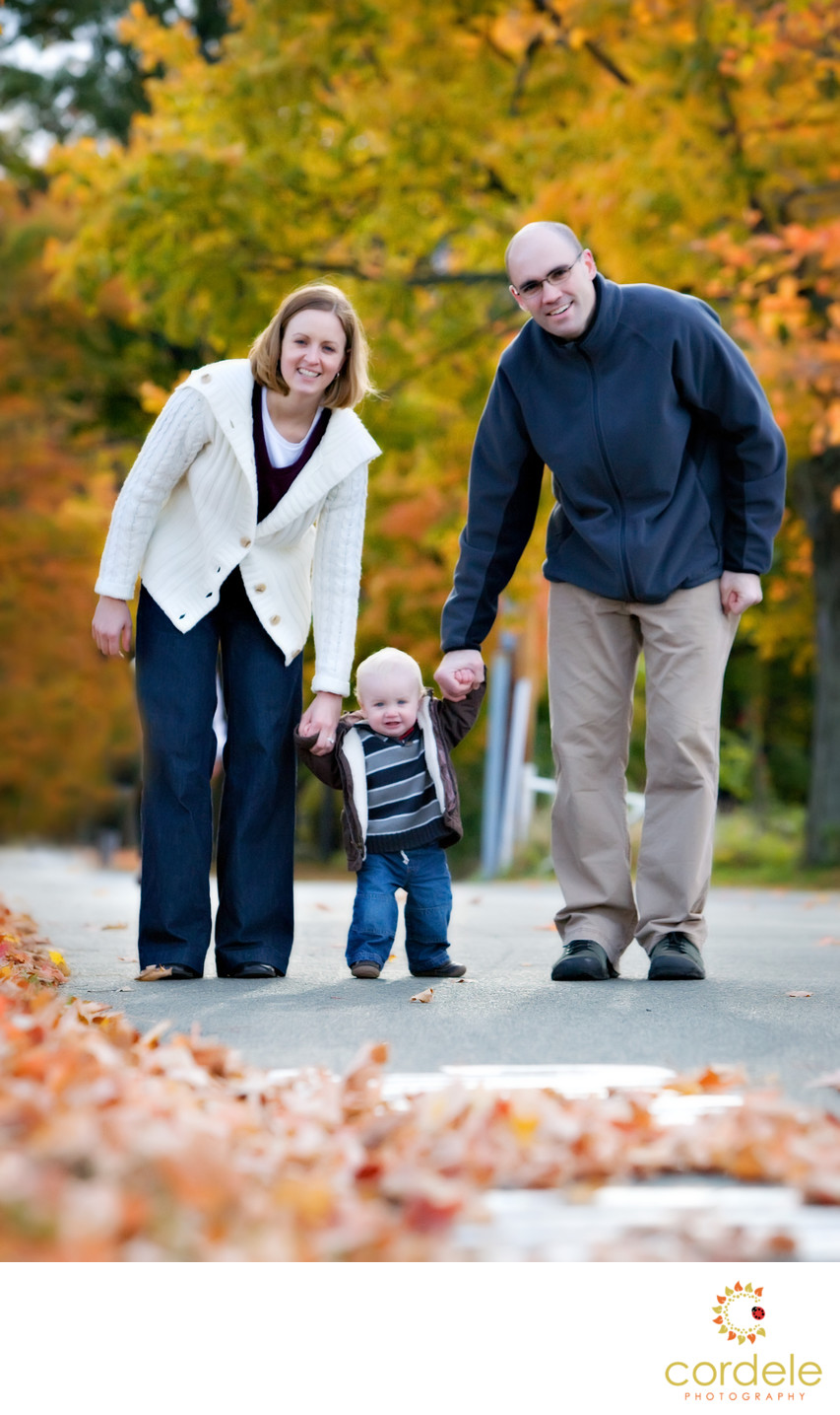 Candid Fall family Photos in New England