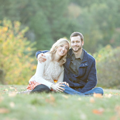 Massachusetts fall engagement photos