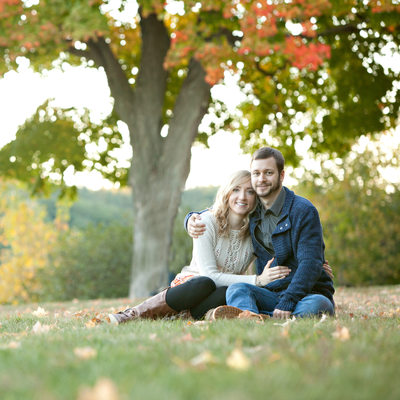 West Boylston Engagement photos in the fall