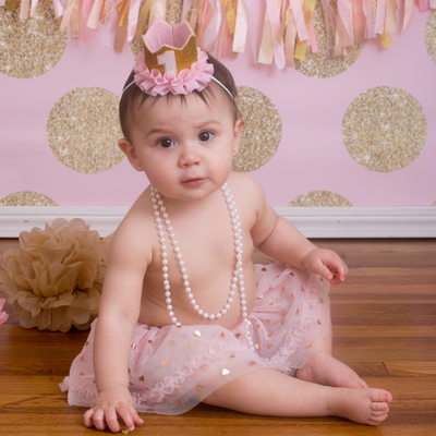 Pretty in Pink and Gold First Birthday