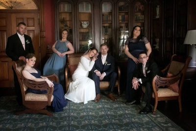 Bridal Party Photo at the Lyman Estate