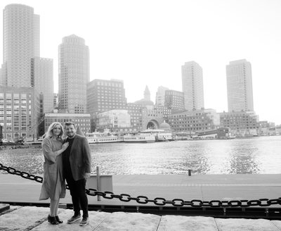 Boston Harborwalk Engagement Photos