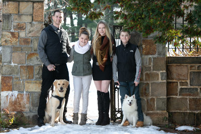 Family portraits with dogs walpole ma