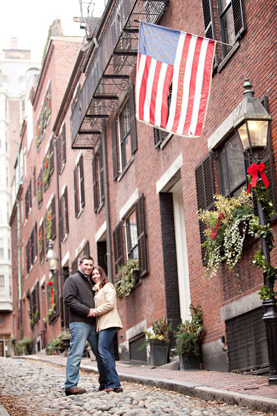 Acorn Street Engagement Photos