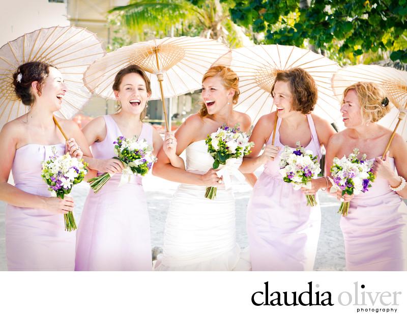 Florida Keys Key West Wedding Photography Bridesmaids In Lila