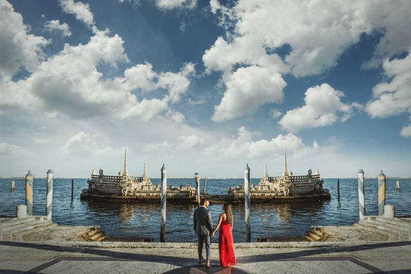 Vizcaya Museum and Gardens Engagement Session Miami