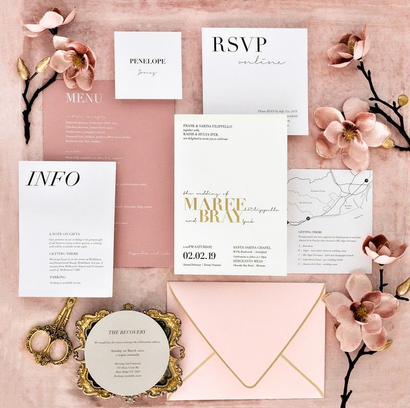 Miami wedding Luxury Invitations