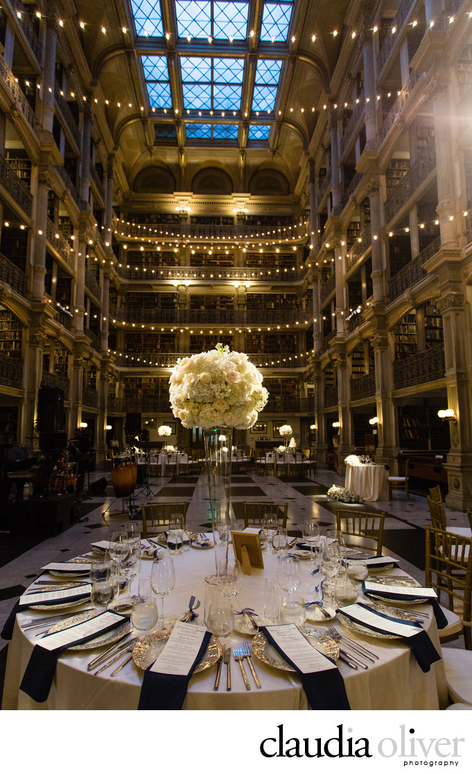 George Peabody Library Wedding Photography Baltimore