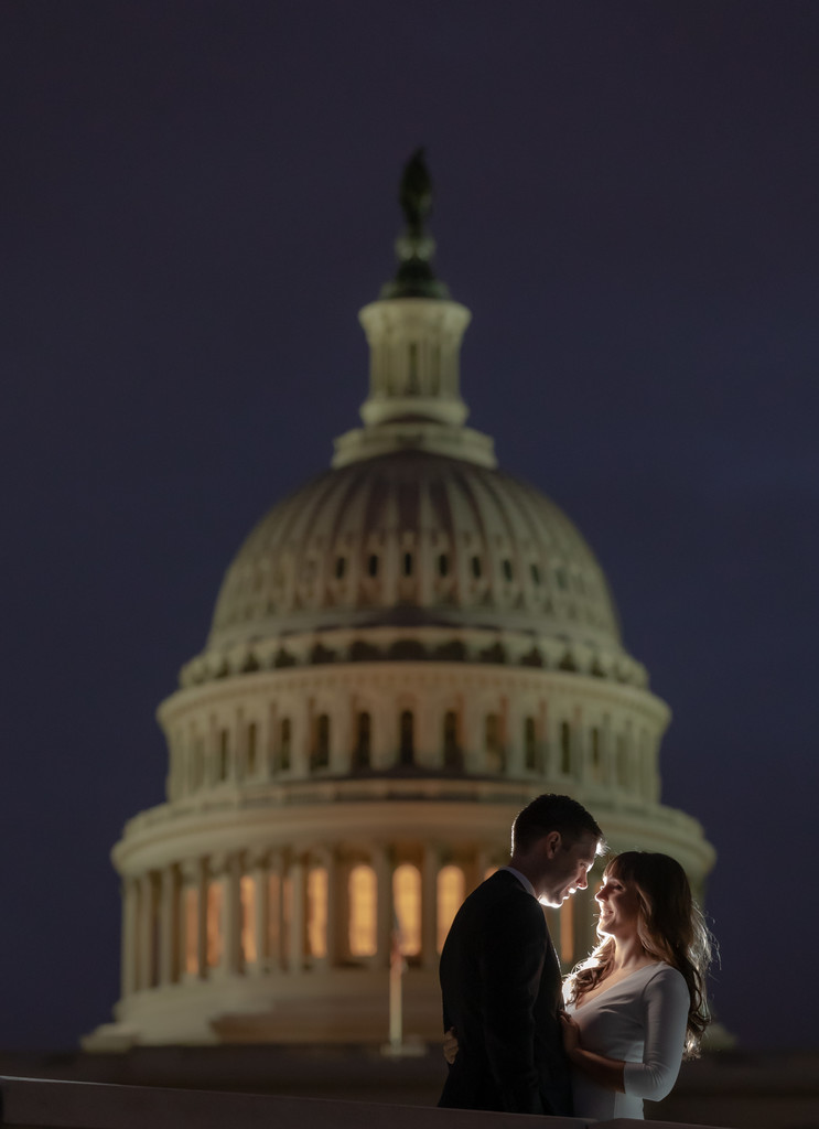 Capitol hill engagement session inspiration in Washington DC